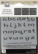 """Stencil FolkArt 3x3"""" Fairy ABC 3pk"""
