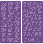 """Cheery Lynn Delicate Lace Script 4"""" x 8"""" Pack of 2 Plates"""