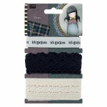 Gorjuss 1m Trims (3pcs) Santoro Tweed