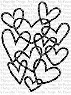 Clear Stamp Heart Background