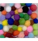 Hobby Crafting Fun Mega Pompom Set, Assorted