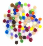 Pom Poms 100pk Asst Mini 7mm