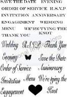 Clear Stamp Wedding Sentiment