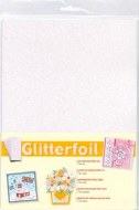 GlitterFoil White Self Adhesive A4 5pk