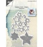 Joy!crafts Cuttingstencils Sketch Art Stars
