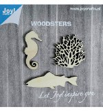 Joycrafts Wooden Objects Seahorse Coral Big Fish