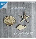 Joycrafts Wooden Objects Starfish Shell Fish