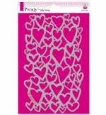 Stencil A4 Pronty Hearts