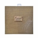 LittleBirdie Burlap MDF Panel 12in x 12in 1pc