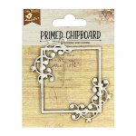 LittleBirdie Chipboard Dancing Script Square Frame 1pc Little Birdie