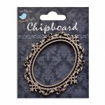 LittleBirdie Chipboard Oval Frame 1pc