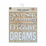 LittleBirdie Chipboard Sentiments Dare To Dream, 1pc