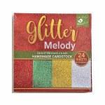 LittleBirdie Christmas Glitter Handmade Card Stock 6'' x 6'' 24Sheets