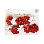 LittleBirdie Christmas Serenade Blooms Red & White 10pcs