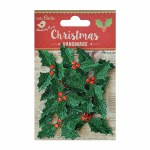 LittleBirdie Holly Jolly Green Glitter, 12Pc