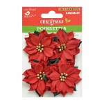 LittleBirdie Pretty Poinsettia 4Pc