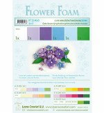 Flower Foam Set 2 Blue/Violet Colours