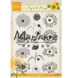 Clear Stamp Marianne Design Tiny's Layered Sunflower