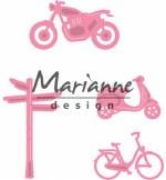 Marianne Design Village Decoration Set 4 (bycicle)