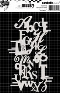 Mask 10.5x15cm Alphabet