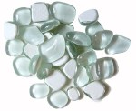Mosaic Glass Drops White 140pk