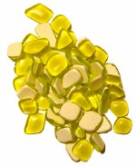 Mosaic Glass Drops Yellow 140pk