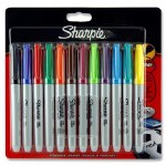 Sharpie Fine Permanent Markers 12 Asst Pack