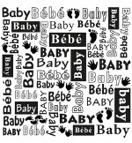 "Embossing Folder Nellie's Choice 6x6"" Baby"