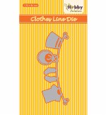 Nellie's Choice Die Baby Range Clothesline 103x46mm