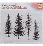 Nellie's Choice Christmas Silhouette Pine Trees