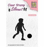 Clear Stamp Nellie's Choice Football Player