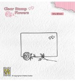 Clear Stamps Nellie's Choice Frame With Rose