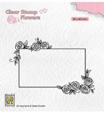 Clear Stamp Nellie's Choice Rectangle Frame With Roses