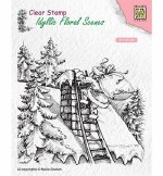 Clear Stamp Nellie's Choice Santa Claus at Work