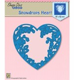 Nellie's Choice Snowdrops Heart