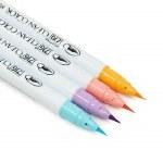 ZIG Clean Color 4pk Pale Colours