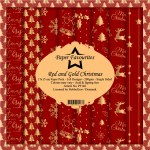 Paper Pk 6x6 Paper Favourites Red & Gold Xmas