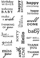 Clear Stamps Paula Pascual Big Sentiments