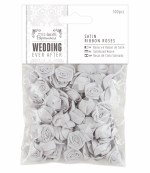 Papermania Satin Ribbon Roses (100pcs) We