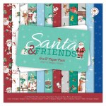 Paper Pk 6x6 Papermania Santa & Friends