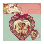 Papermania 6x6 Decoupage Card Kit Victorian Valentine