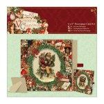 Papermania 6x6 Decoupage Card Kit Victorian Christmas
