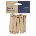 Wooden Eyelet Tags (12pcs)