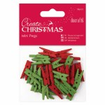 Mini Pegs (36pcs) Red & Green