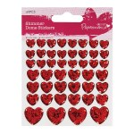 Dome Stickers Papermania Shimmer Heart 60 pieces
