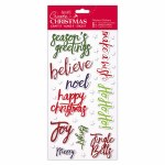Christmas Thicker Stickers DoCrafts Words