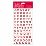 Alphabet Thicker Stickers DoCrafts Red