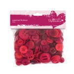 Papermania Assorted Buttons (250g) - Red