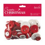 Papermania Assorted Buttons (250g) Nordic Christmas