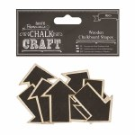 Papermania Wooden Chalkboard Shapes (8pcs) Arrows